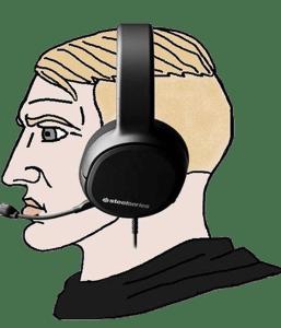 Nordic Chad No Beard Black HEadset