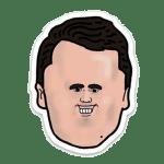 Charlie Kirk Cartoon Head