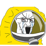 Hazmat Suit Soy Jack Crying