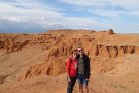 Flaming cliffs Gobi Desert Mongolia