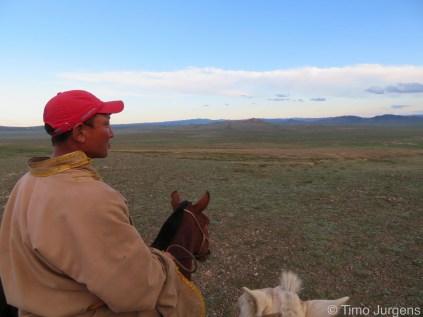 Horse Herder Family Gobi Mongolia