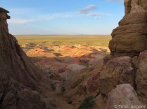 Tsagaan suvarga white stupa Gobi Desert Mongolia