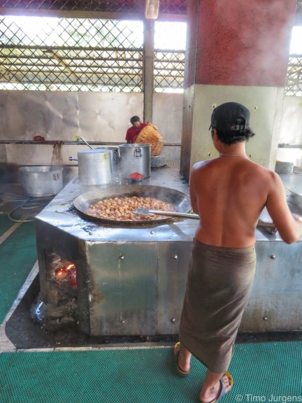 Cooking at Mahagandayon Monastery Myanmar