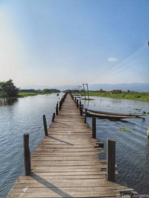 Dock at Maing Thauk Inle Lake Myanmar