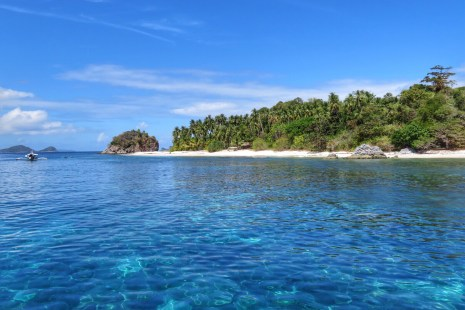Crystal clear water View from the boat TAO Philippines