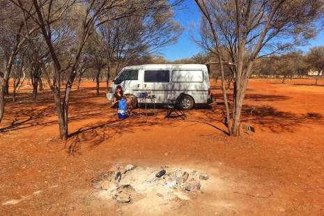 Campsite at Gemtree Australia