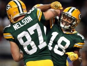 Jordy Nelson (87) and Randall Cobb (18)