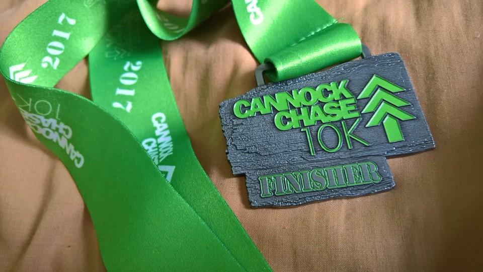 Cannock Chase 10k 2017 Medal