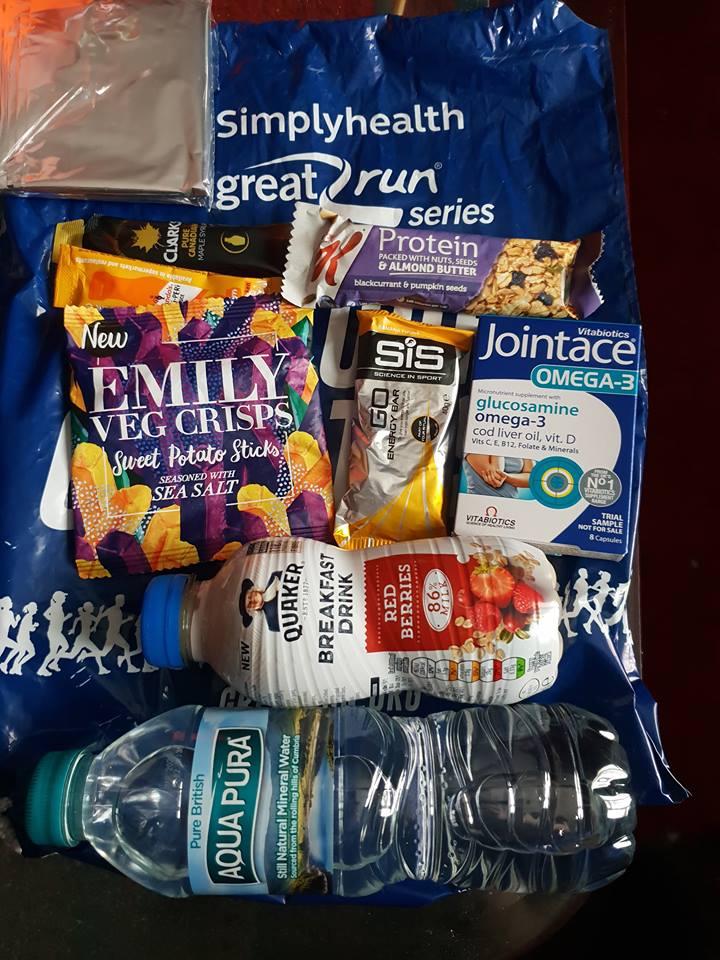 Simplyhealth Birmingham Half Marathon 2018 Goodie Bag