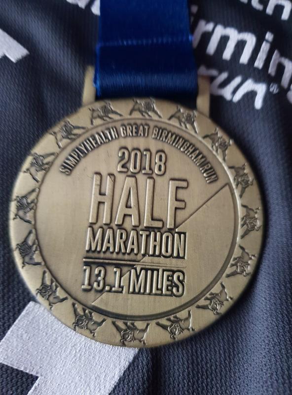 Simplyhealth Birmingham Half Marathon 2018 Medal Front