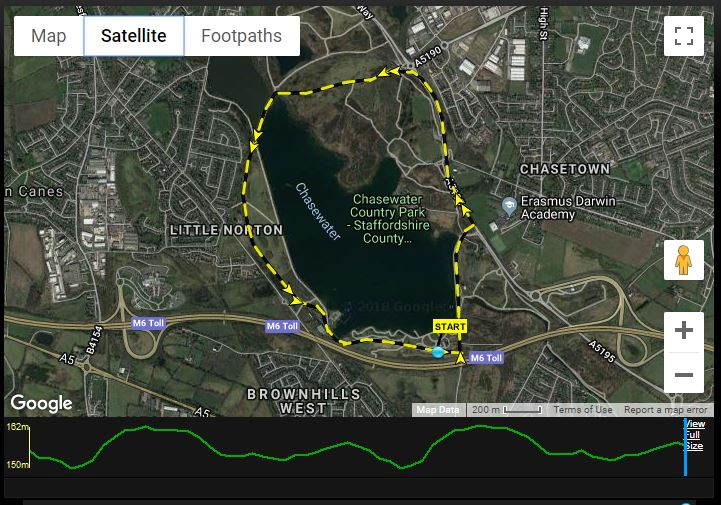 Chasewater 10k Course