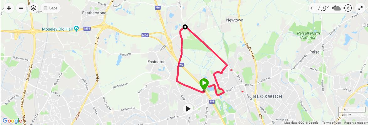 Sneyd 10 Mile Map