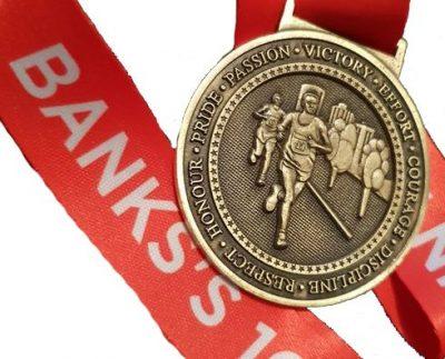Banks's 10k Medal