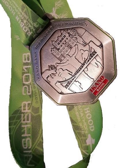 Robin Hood Half Marathon Medal