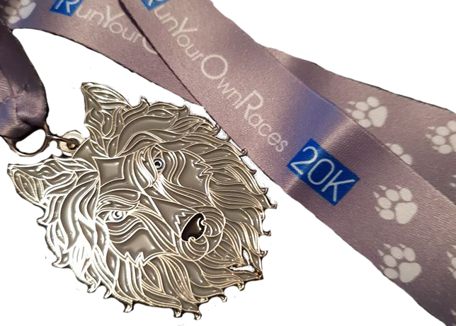 Run Your Own Races 20k Medal
