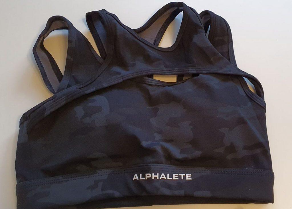 Alphalete Surface Keyhole Bra Front