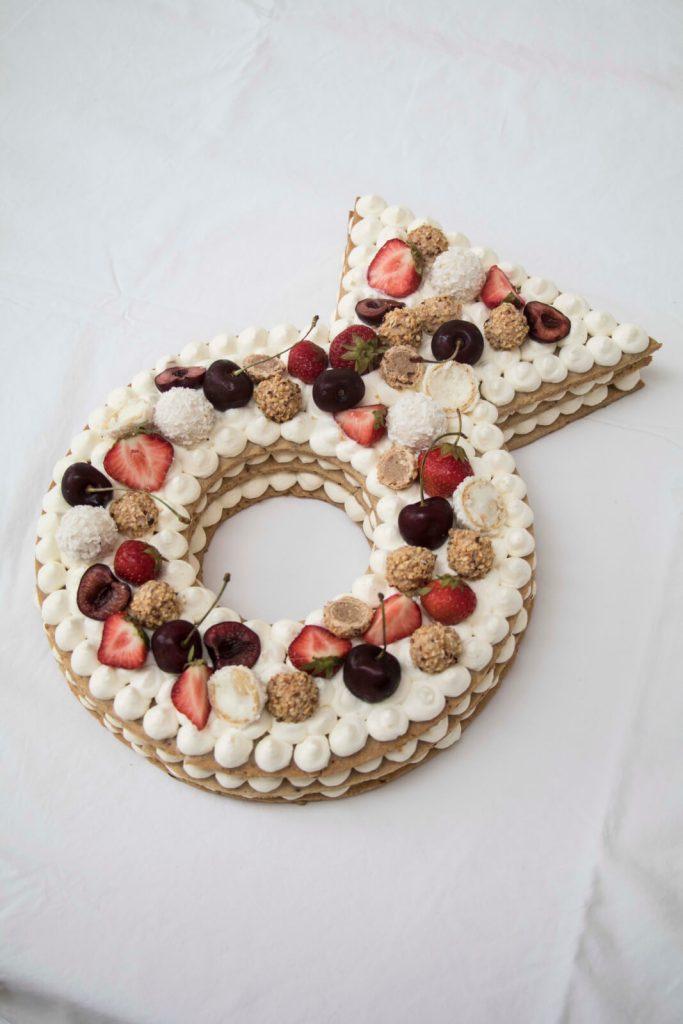 Cream-Tart-Ring-cake-Number-Cake