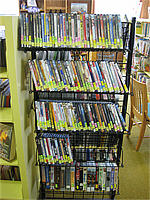 DVDs on rack