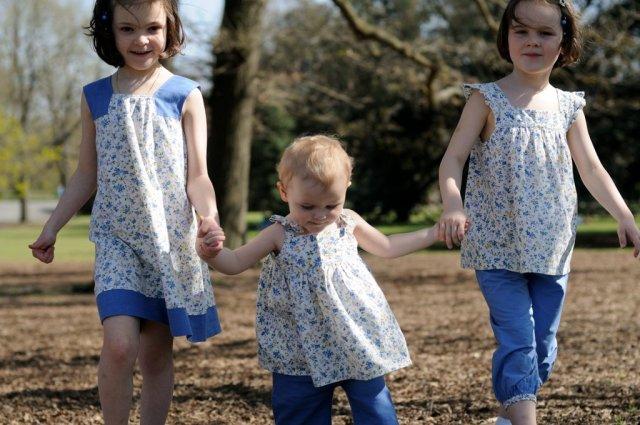 créations de 3 roses 3 choux pour coudreetbloguer.org