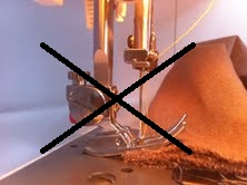 A ne pas faire pour coudre des épaisseurs de tissus par CoudreetBroder.com