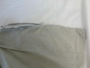 epingler le long de la couture