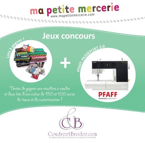 Un nouveau concours pour gagner une machine à coudre Pfaff !