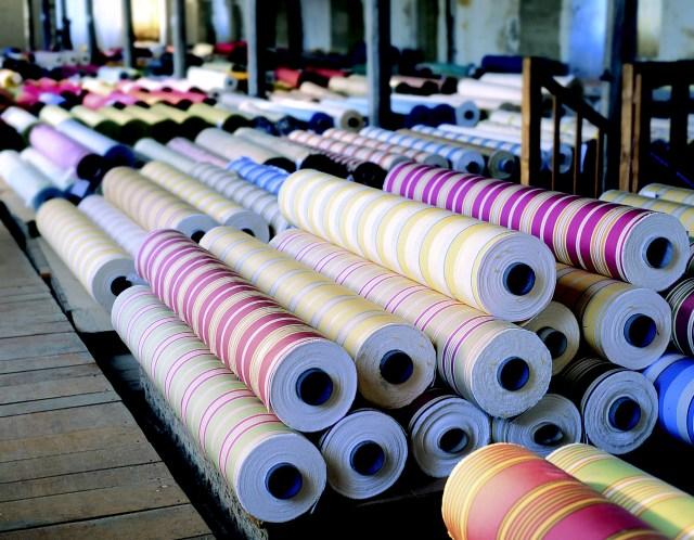 Rouleaux de tissu
