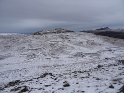 The peak north of An Socach (the snout), and some lovely peat hags on the slope (from Meall Meadhonach - the middle hill)