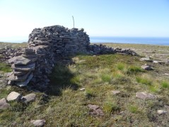A fort on top of Cnoc a' Ghiubais.
