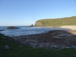 Finally at beach level! Didn't stop the midges though.