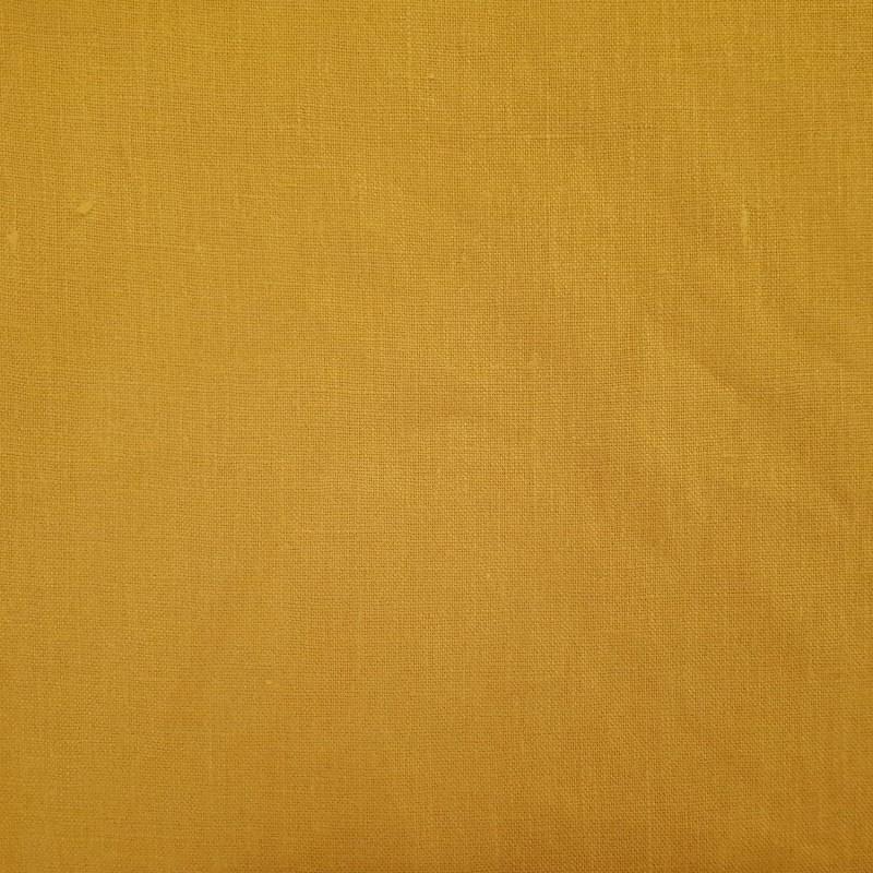 lin lave jaune moutarde largeur 140cm