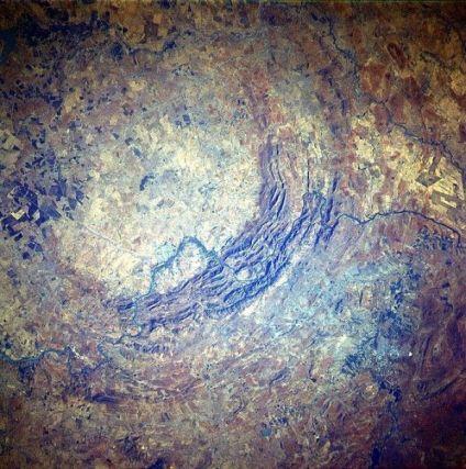 Dôme de Vredefort vue satellite