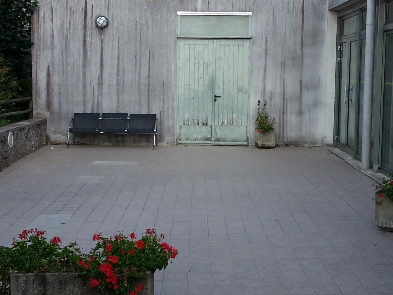 Vue de la terrasse depuis extérieur