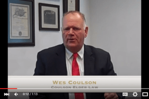 In this Elder Law Minute, Wes Coulson discusses the types of care covered by VA benefits and the distinction between VA benefits and Medicaid.