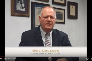 In this Elder Law Minute, Wes Coulson disusses the common estate planning mistake people make in failing to appreciate how assets pass upon death.I coulsonelderlaw.com