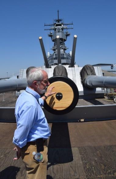 Sam Johnson aboard USS Iowa