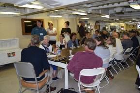 Lunch aboard the USS Iowa
