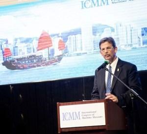 Steve White presenting at 2015 ICMM in Hong Kong