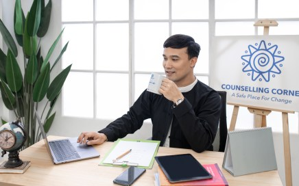 Aung Min Thein at Counselling Corner office in Yangon