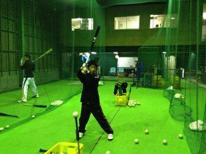 少年野球のバッティング練習
