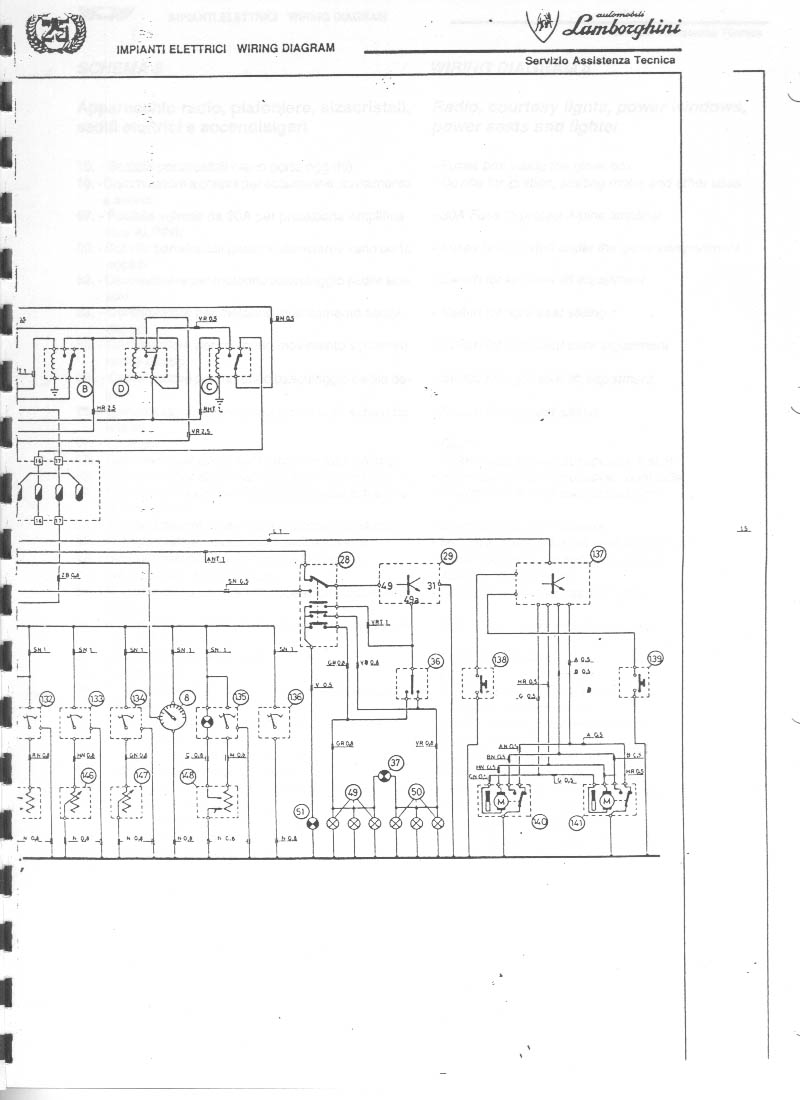 Service manual [1988 Lamborghini Countach Fuse Box Diagram