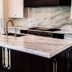 Kitchen Counter Tops Cabinet Design Ideas Best Countertops Custom Islands White Marble And Island With A Full Height Backsplash