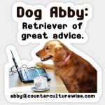 Dog Abby sticker