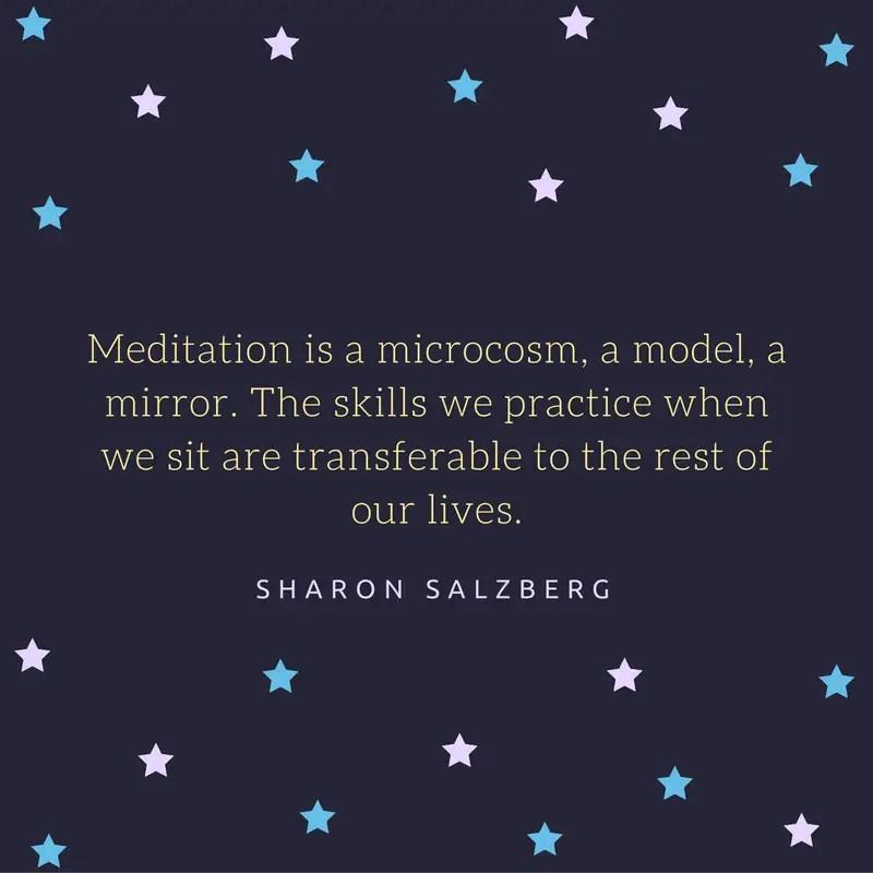 sharon salzberg meditation quote