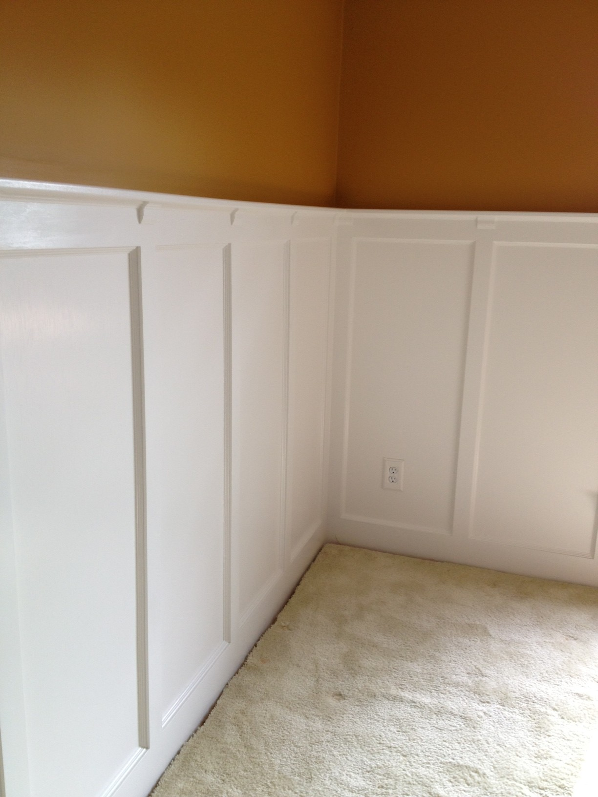 Painted Walls And Wainscot Panels In The Dining Room The