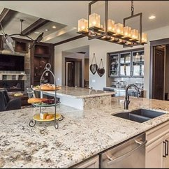 Granite Kitchens Formica Kitchen Cabinets 47 Beautiful Countertops Pictures The T Shaped Breakfast Bar Is A Nice Touch