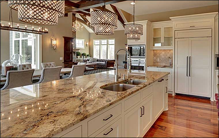 quartz kitchen countertops island rustic granite versus pros and cons if you spend some time browsing the internet ll find a range of different opinions about vs while one homeowner will tell that