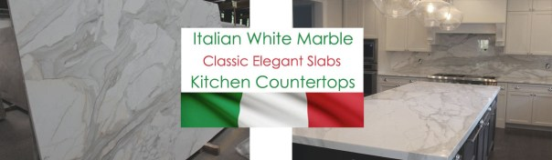 Italian white marble slabs for countertops