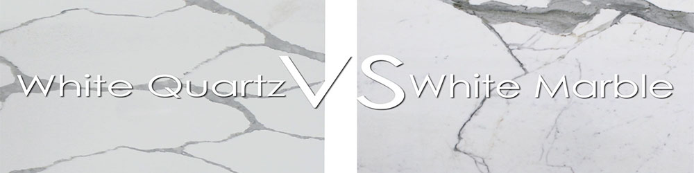 White Marble Countertop VS White Quartz Countertop