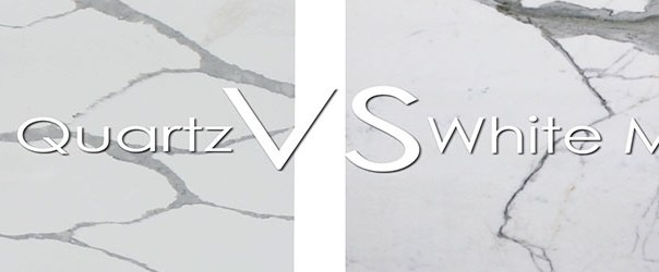 White Marble Countertop VS White Quartz Countertop